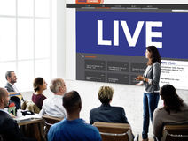 Live Broadcast Media News Online Concept Stock Photo