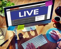 Live Broadcast Media News Online Concept Stock Image
