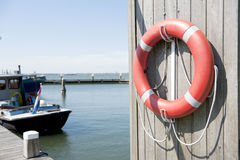 Live buoy in Dutch harbor Royalty Free Stock Image