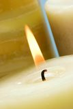Live candle royalty free stock image