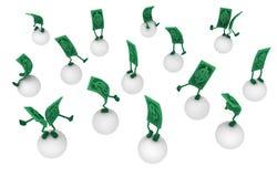 Live Cash, Ball-Balance lizenzfreie abbildung
