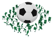 Live Cash, círculo do futebol ilustração stock