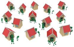Live Cash, casas ilustração stock