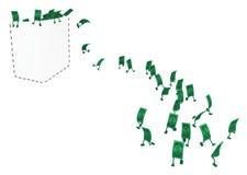 Live Cash, escape del bolsillo ilustración del vector
