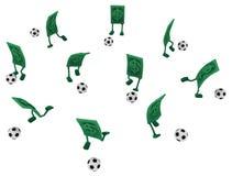Live Cash fotbolllek vektor illustrationer