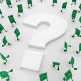 Live Cash, Frage Stockfotos
