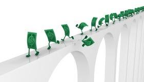 Live Cash, funcionamiento del puente ilustración del vector