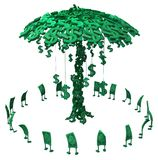 Live Cash, Geld-Baum Stockfoto