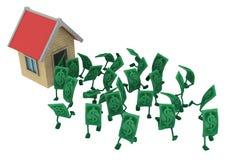 Live Cash husflykt vektor illustrationer