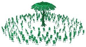 Live Cash, muchedumbre del árbol del dinero stock de ilustración