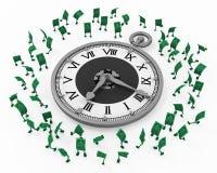 Live Cash, orologio di tempo illustrazione vettoriale