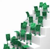 Live Cash, Treppen-Stellung Lizenzfreies Stockfoto
