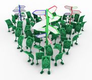 Live Cash vägvisare vektor illustrationer