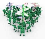 Live Cash, voorziet van wegwijzers vector illustratie