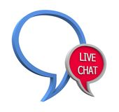 Live chat. Icon on white background Royalty Free Stock Photography