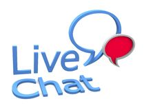 Live chat. Icon on white background Royalty Free Stock Photos