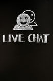 Live chat button with human figures Stock Images