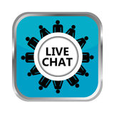 Live chat button Stock Image