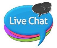 Live Chat Colorful Comment Symbols illustrazione vettoriale