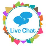 Live Chat Colorful Random Shapes cirkel stock illustrationer
