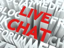 Live Chat Concept. Stock Photos