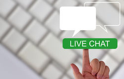 Live Chat Concept. Business communication technology, customer service Royalty Free Stock Images