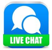 Live chat. Concept, vector icon Stock Photos
