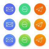 Live-Chat-Gesprächsikonen Mitteilungsvektorikonen Lizenzfreie Stockfotos