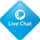 Live chat icon web button. Of vector illustration on isolated plain white background royalty free illustration
