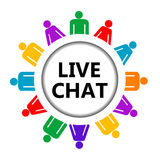 Live chat icon Stock Image