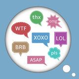 Live chat icons Royalty Free Stock Photo