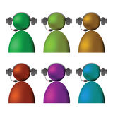 Live chat. Illustration  with colored  live chat icons on white background Stock Photography