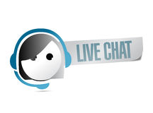 Live chat illustration design Royalty Free Stock Image