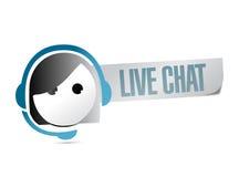 Live chat illustration design Royalty Free Stock Image