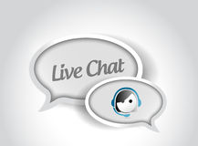 Live chat message communication concept Stock Images
