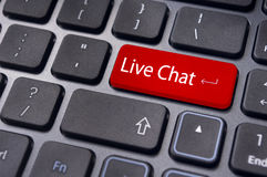A message for keyboard, for live chat support concepts Royalty Free Stock Photo