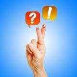 Live-Chat mit Kundendienst Stockbild