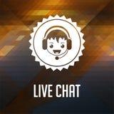 Live Chat. Retro label design. Royalty Free Stock Photo