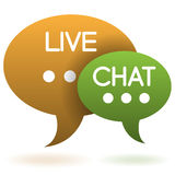 Live Chat Speech Balloons Stock Photos