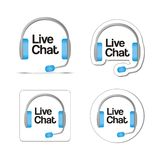 Live chat. Suitable for user interface Stock Images
