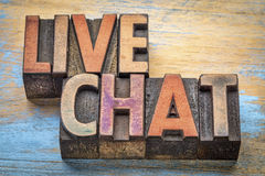 Live chat word abstract Royalty Free Stock Photo