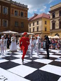 Live chess, Lublin, Poland Stock Photography