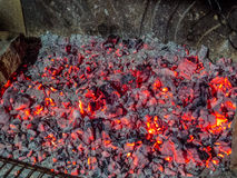 Live coal Royalty Free Stock Photography