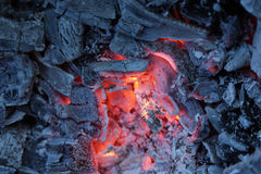 Live coals. As abctract background Royalty Free Stock Images