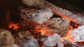 live coals in a fireplace stock video footage