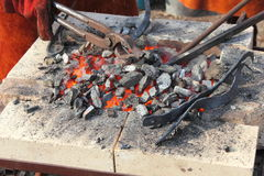 Live coals Royalty Free Stock Photo
