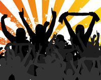 Live Concert. Illustration of fans Royalty Free Stock Photos