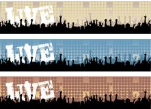Live Concert Banners Royalty Free Stock Photo