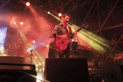 A live concert of daniele silvestri Stock Photography