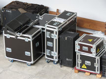 Live concert equipment in Lisbon Royalty Free Stock Photos